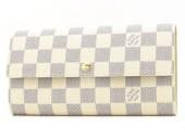 Louis Vuitton 激安 ルイヴィトン 新品 ダミエ・アズール 財布 ファスナー長札 ポルトフォイユ・サラ N61735