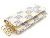 Louis Vuitton 激安 ルイヴィトン 新品 ダミエ・アズール 4連キーケース キーホルダー ミュルティクレ4 N60020