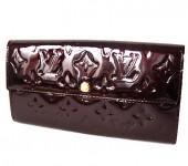 Louis Vuitton 激安 ルイヴィトン 新品 ヴェルニ 財布 ファスナー付き長札 ポルトフォイユ・サラ アマラント M93524