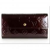 Louis Vuitton 激安 ルイヴィトン 新品 ヴェルニ 財布 三つ折り 長財布 ポルトフォイユ・インターナショナル NM アマラント M91998