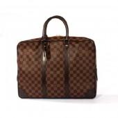 2010年新作 Louis Vuitton 激安 ルイヴィトン 新品 ダミエ ポルト ドキュマン・ヴォワヤージュ ビジネスバッグ ダークブラウン N41124