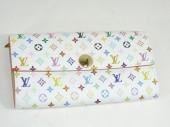 ルイヴィトン 新作 人気 新品 通販&送料込 マルチカラー 長財布 ホワイト ブロン M60004