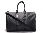 Louis Vuitton 激安 ルイヴィトン 新品 ボストンバッグ『キーポル・バンドリエール・45』(ダミエ・グラフィット) N41418