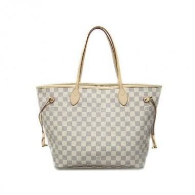 2010年早春新作 Louis Vuitton 激安 ルイヴィトン 新品 ダミエ・アズール バッグ ネヴァーフルMM アズール N51107