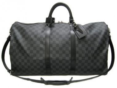 Louis Vuitton 激安 ルイヴィトン 新品 ダミエ・グラフィット バッグ キーポル・バンドリエール55 ストラップ付き N41413