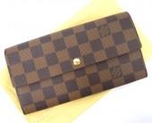 Louis Vuitton 激安 ルイヴィトン 新品 ダミエ 財布 ファスナー長札 ポルトフォイユ・サラ N61734
