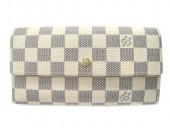 Louis Vuitton 激安 ルイヴィトン 新品 ダミエ・アズール 財布 三つ折長札 ポルトフォイユ・インターナショナル N61732