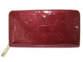 Louis Vuitton 激安 ルイヴィトン 新品 ヴェルニ 財布 ジッピーウォレット ポムダムール M91981