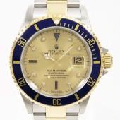 ロレックス 腕時計 新入荷&送料込 16613SG サブマリーナ コンビ  自動巻