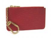 Louis Vuitton 激安 ルイヴィトン 新品 エピ キーコインケース ポシェットクレ ルージュ ゴールド金具 M63807