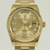 ロレックス 腕時計 新入荷&送料込 デイデイトYG 118238(8)A 自動巻