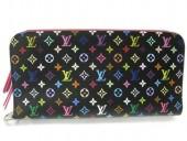 Louis Vuitton 激安 ルイヴィトン 新品 マルチカラー 財布 ポルトフォイユ・アンソリット ノワールxグルナード(ピンク) M93754