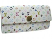 Louis Vuitton 激安 ルイヴィトン 新品 マルチカラー 財布 ファスナー付き長札 ポルトフォイユ・サラ ブロンxアニス(ライトブルー) M93746