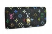 Louis Vuitton 激安 ルイヴィトン 新品 マルチカラー 4連キーケース ミュルティクレ4 ノワールxグルナード(ピンク) M93732