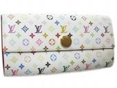 Louis Vuitton 激安 ルイヴィトン 新品 マルチカラー 財布 ファスナー付き長札 ポルトフォイユ・サラ ブロンxフィグ(レッド) M93745