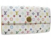 Louis Vuitton 激安 ルイヴィトン 新品 マルチカラー 財布 ファスナー付き長札 ポルトフォイユ・サラ ブロンxシトロン(イエロー) M93743