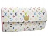 Louis Vuitton 激安 ルイヴィトン 新品 マルチカラー 財布 ファスナー付き長札 ポルトフォイユ・サラ ブロンxリッチ(ピンク) M93744