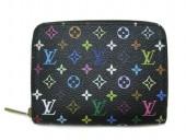 Louis Vuitton 激安 ルイヴィトン 新品 モノグラム・マルチカラー コインケース ジッピー・コインパース ノワールxグルナード(ピンク) M93740