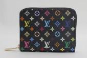 2011年新作 新色 Louis Vuitton 激安 ルイヴィトン 新品 モノグラム・マルチカラーキャンバス ノワール×ヴィオレ ジッピーコインパース M60268