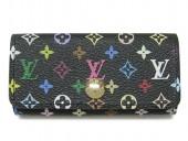 2011年新作 新色 Louis Vuitton 激安 ルイヴィトン 新品 モノグラム・マルチカ4連キーケース ノワールxヴィオレ(パープル) M60284