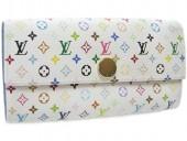 Louis Vuitton 激安 ルイヴィトン 新品 マルチカラー 財布 ファスナー付き長札 ポルトフォイユ・サラ ブロンxレザン(ブルー) M93742