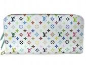 Louis Vuitton 激安 ルイヴィトン 新品 マルチカラー 財布 ポルトフォイユ・アンソリット ブロンxアニス(ライトブルー) M93753