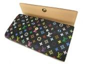 Louis Vuitton 激安 ルイヴィトン 新品 マルチカラー 財布 ファスナー付き長札 ポルトフォイユ・サラNM ノワール M93533
