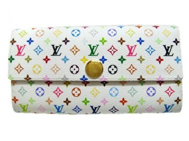 Louis Vuitton 激安 ルイヴィトン 新品 マルチカラー 財布 ファスナー付き長札 ポルトフォイユ・サラNM ブロン M93532