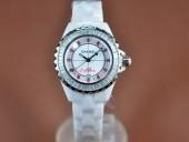 シャネル 新作&送料込 Chanel J12 Joaillerie Ladies White/Red/Clear Jap Quartz腕時計J-CH0062