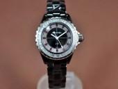 シャネル 新作&送料込 Chanel J12 Joaillerie Ladies Black Jap Quartz腕時計 J-CH0061