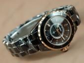 シャネル 新作&送料込Chanel Watches J12 TT Black Ceramic Num Markers Ladies Japanese Quartz腕時計 J-CH0034