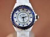 シャネル 新作&送料込 Chanel J12 Joaillerie Ladies White/Blue/Blue Jap Quartz腕時計J-CH0052