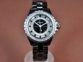 シャネル 新作&送料込Chanel J12 Joaillerie Ladies Black/Black/Clear Jap Quartz腕時計 J-CH0056