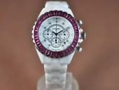 シャネル 新作&送料込Chanel J12 Men Japanese OS20クオーツ ストップウオッチ腕時計J-CH0097
