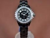 シャネル 新作&送料込 Chanel J12 Joaillerie Ladies Black/Black/Clear Jap Quartz腕時計 J-CH0060