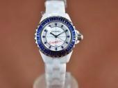 シャネル 新作&送料込 Chanel J12 Joaillerie Ladies White/Blue/Blue Jap Quartz腕時計J-CH0063