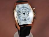 フランクミュラー 新作&送料込 Franck Muller Casablanca Chrono RG/LE White A-7750 腕時計J-FN0111