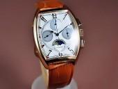 フランクミュラー 新作&送料込 Franck Muller Watches Casablanca Complications RG/LE White Handwind Chronos手巻き J-FN0104