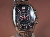 フランクミュラー 新作&送料込 Franck Muller Casablanca Chrono SS/SSBlack A-7750 腕時計J-FN0112