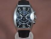 フランクミュラー 新作&送料込Franck Muller Casablanca Chrono SS/LE Black A-7750 28800bph腕時計 J-FN0132