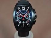フランクミュラー 新作&送料込 Franck Muller Casablanca Chronograph pvd Case Japan OS20腕時計 J-FN0122
