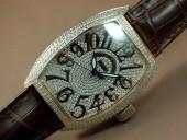フランクミュラー 新作&送料込 Franck Muller Watches Casablanca Men Diamond/SS White 2813 自動巻 J-FN0090