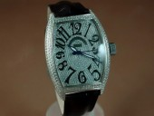 フランクミュラー 新作&送料込 Franck Muller Watches Casablanca Men Diamond/SS White 2813自動巻き J-FN0090