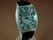 フランクミュラー 新作&送料込 Franck Muller Watches Casablanca Men Diamond/SS White 2813自動巻き J-FN0090