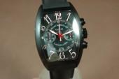 フランクミュラー 新作&送料込 Franck Muller Watches Casablanca Chrono PVD/LE Black A-7750 28800bph腕時計 J-FN0089