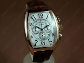 フランクミュラー 新作&送料込 Franck Muller Watches Casablanca Chronographe RG White Deal Asia 7750 J-FN0063