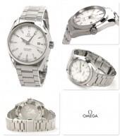 オメガ 腕時計 OMEGA &送料込 シーマスター アクアテラ メンズ 腕時計 デイト クォーツ ホワイト231.10.39.61.02.001