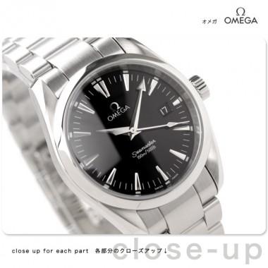 オメガ 腕時計 &送料込 OMEGA シーマスター アクアテラ ボーイズ 腕時計 デイト クォーツ ブラック2518.50