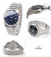 オメガ 腕時計 &送料込 OMEGA シーマスター アクアテラ メンズ 腕時計 デイト クォーツ ブルー2517.80