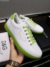 D&G 新作 新品同様超美品 通販&送料込 牛革 運動靴 男性用 DG014